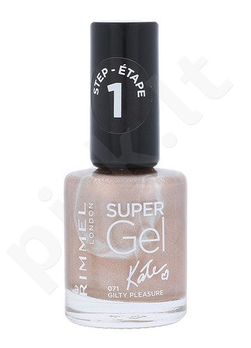 Rimmel London Super nagų lakas, kosmetika moterims, 12ml, (071 Guilty Pleasure)