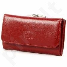 P8 raudona piniginė odinis moterims