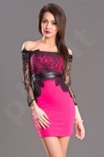 Emamoda suknelė - fuksija spalva 5702-1