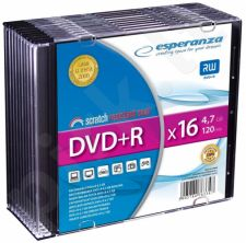 DVD+R ESPERANZA [ slim jewel case 10 | 4.7GB | 16x ]