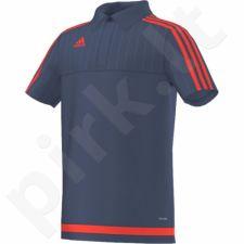 Marškinėliai futbolui polo Adidas Tiro 15 Junior S27119