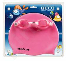 Plaukimo rinkinys: akiniai, kepuraitė. silikoninė kids 9904 14