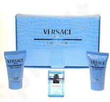 Versace (EDT 5 ml + 25 ml dušo želė + 25 ml balzamas po skutimosi) Man Eau Fraiche, rinkinys vyrams