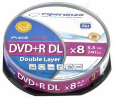 DVD+R Double Layer ESPERANZA [ cake box 10 | 8,5 GB | 8x ]