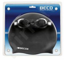 Plaukimo rinkinys: akiniai, kepuraitė.  silikoninė 9905 01 black/w