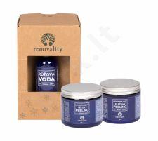 Renovality Original Series, rinkinys kūno pilingas moterims, (kūno pilingas Lavender 200 g + kūno pilingas Lavender 100 g + Rose Water 100 ml)