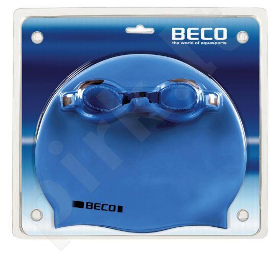 Plaukimo rinkinys: akiniai, kepuraitė. silikoninė 9905 611 blue/g