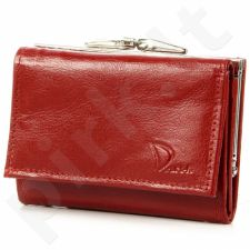 DAN-A P20 raudona odinė piniginė moterims