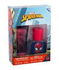 Marvel Spiderman, rinkinys tualetinis vanduo vaikams, (EDT 30 ml + dušo želė 70 ml)