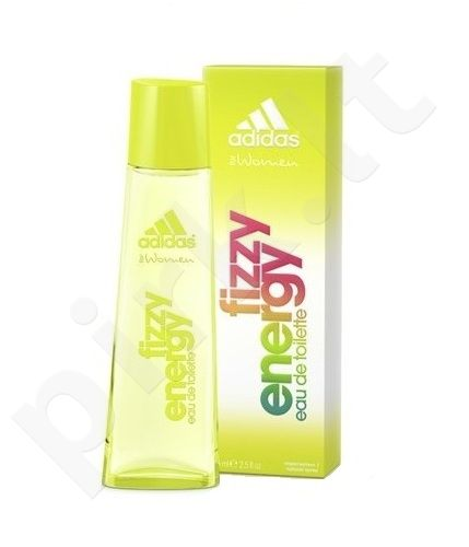 Adidas Fizzy Energy, tualetinis vanduo (EDT) moterims, 75 ml