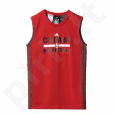 Marškinėliai krepšiniui dvipusė  adidas Y WNTHPS REV SL Chicago Bulls Junior S92405