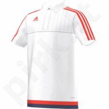 Marškinėliai futbolui polo Adidas Tiro 15 Junior S27120