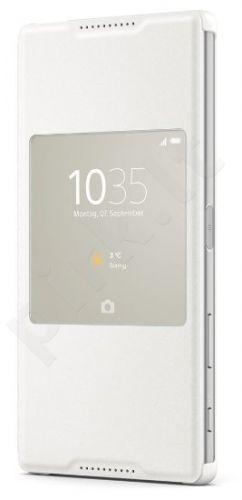 Sony Xperia Z5 Premium Window dėklas SCR46 baltas