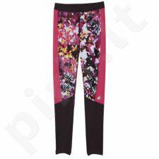 Sportinės kelnės Adidas Techfit Capri Long Floral  W AJ0537