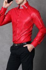 4111-2 Marškiniai vyriški - raudona