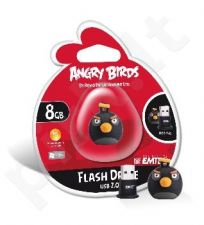 Atmintukas Emtec Angry Birds 8GB, Juodas paukštis