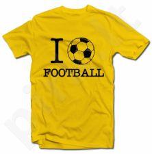 """Marškinėliai """"I love football"""""""