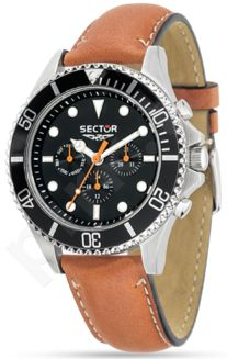 Laikrodis SECTOR   235 Multi Black Dial Brown Strap