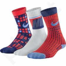 Kojinės Nike Cotton Cushion Multi-Graphic Crew Sock 3pak Junior SX5097-941