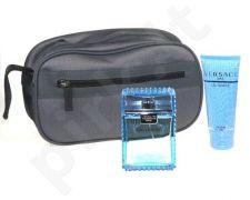 Versace (EDT 100 ml + 100 ml dušo želė + kosmetikos krepšys) Man Eau Fraiche, rinkinys vyrams
