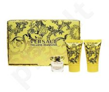 Versace (EDT 5 ml + 25 ml kūno losjonas + 25 ml dušo želė) Yellow Diamond, rinkinys moterims