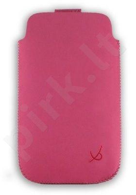 zomšas L-DV0021 universalus dėklas Dolce Vita rožinis