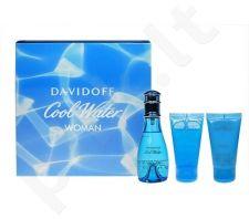 Davidoff Cool Water rinkinys moterims, (EDT 50ml + 50ml kūno losjonas + 50ml dušo želė)
