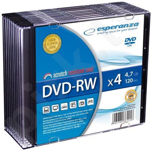 DVD-RW ESPERANZA [ slim jewel case 10 | 4.7GB | 4x ]
