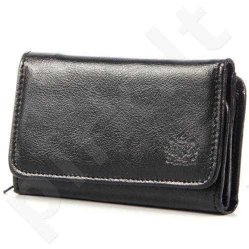 P172 juoda odinė piniginė moterims
