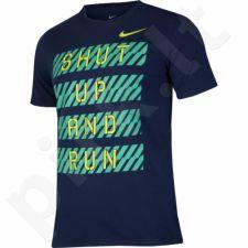 Marškinėliai bėgimui  Nike Dry Tee DBL Finish Line M 831887-429