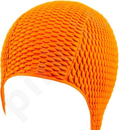 Kepuraitė plaukimui moterims gum-bubble 7300 3 orange
