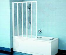 Vonios sienelė VS5 baltas+plastikas Rain