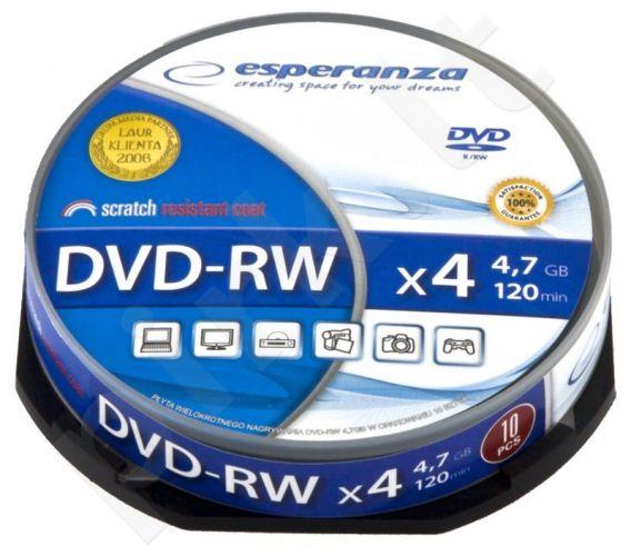 DVD-RW ESPERANZA [ cake box 10 | 4.7GB | 4x ]