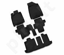 Guminiai kilimėliai 3D NISSAN Pathfinder 2014-> 5 pcs. /L50053