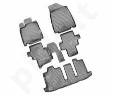 Guminiai kilimėliai 3D NISSAN Pathfinder 2014-> 5 pcs. /L50053G /gray