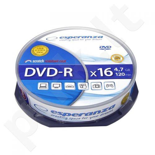 DVD-R ESPERANZA [ cake box 10 | 4.7GB | 16x ]