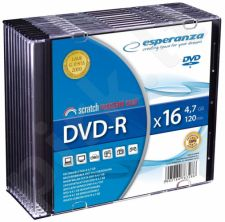 DVD-R ESPERANZA [ slim jewel case 10 | 4.7GB | 16x ]