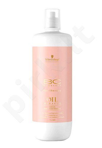 Schwarzkopf BC Bonacure Oil Miracle Rose Oil šampūnas plaukams, kosmetika moterims, 1000ml