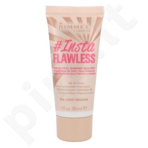 Rimmel London Instaflawless Primer SPF15 veido gruntas, kosmetika moterims, 30ml, (006 Light Medium)