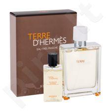 Hermes Terre D Hermes Eau Tres Fraiche rinkinys vyrams, (EDT 75 ml + dušo želė 40 ml)