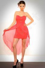 EVA-LOLA Suknelė arbūzinio atspalvio 3001-1
