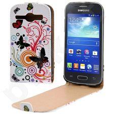 Samsung Galaxy Core dėklas BUTTERFLY Telemax baltas