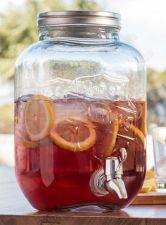 Vintažinis gėrimo stiklainis - dozatorius (3,5l)