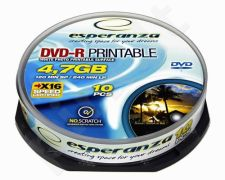 DVD-R ESPERANZA [ cakebox 10 | 4,7GB | 16x | printable ]