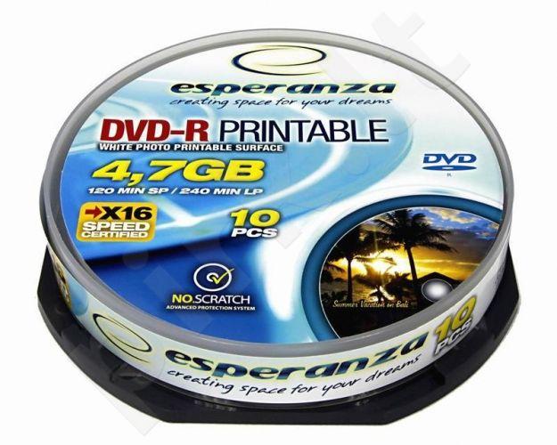 DVD-R ESPERANZA [ cakebox 10 | 4,7GB | 16x | printable ]