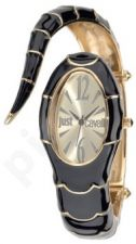 Laikrodis JUST CAVALLI TIME POISON kvarcinis. SS Case. Enamelled Black/Gold PVD apyrankė 24x . WR 30mt