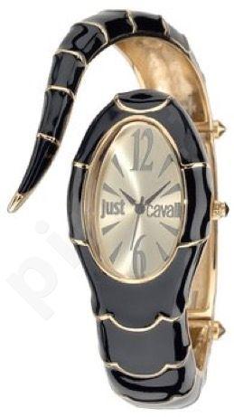 Laikrodis JUST CAVALLI TIME POISON kvarcinis. SS Case. Enamelled Black/Gold PVD apyrankė 24x . WR 30mt