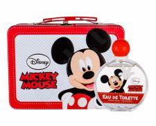 Disney Mickey Mouse, rinkinys tualetinis vanduo vaikams, (EDT 100 ml + Case)