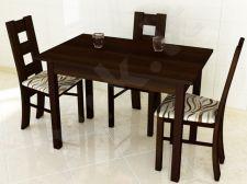 Stalas (S43) + 3 kėdės (KT)
