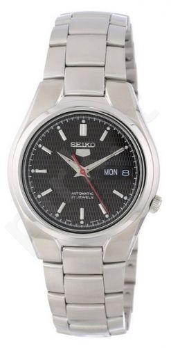 Laikrodis SEIKO5 SNK607 automatinis Day& . SS Case &apyrankė Black Dial 37mm